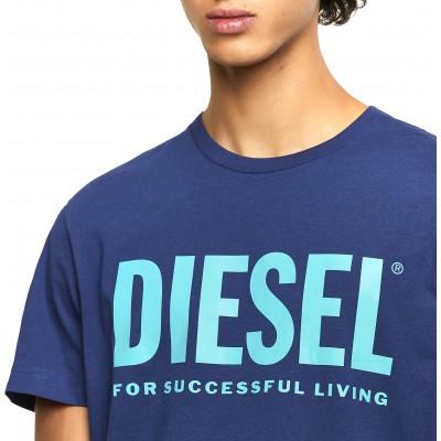 Diesel T-Shirt T-Diego Logo-Blue
