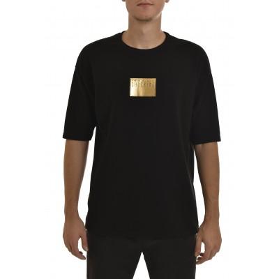 Twin Black Sweatshirt 3/4 Slv Gold Patch & Back Logo-Black