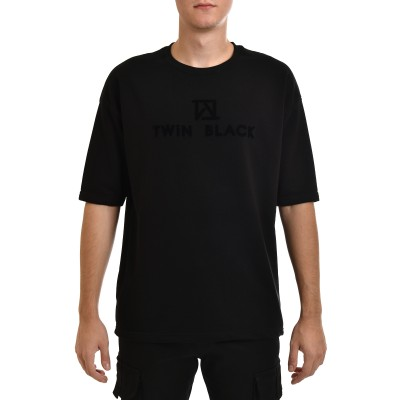 Twin Black Sweatshirt 3/4 Slv Velvet Logo-Black