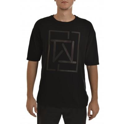 Twin Black Sweatshirt 3/4 Slv Monogram Logo-Black