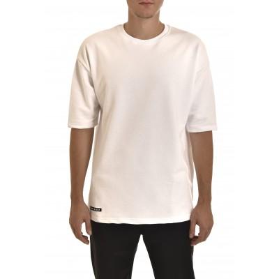 Twin Black Sweatshirt 3/4 Slv-White