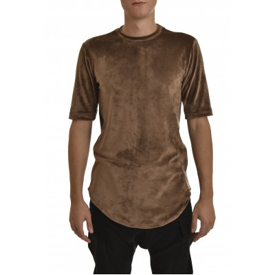 Twin Black T-Shirt Total Velvet-Brown