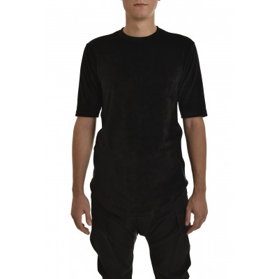Twin Black T-Shirt Total Velvet-Black