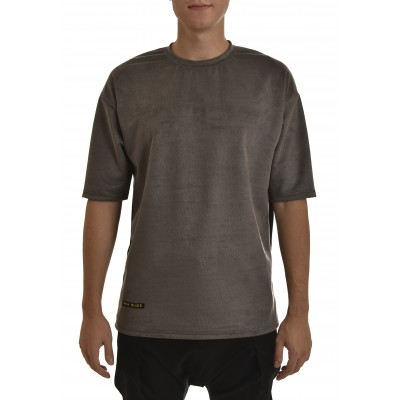 Twin Black T-Shirt Effect Suede-Grey