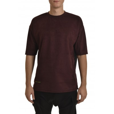 Twin Black T-Shirt Effect Suede-Bordeaux