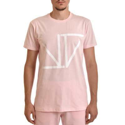 Twin Black T-Shirt Monogramma-Pink