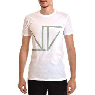 Twin Black T-Shirt Mint Logo Monogramma-White
