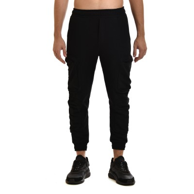 Twin Black Sweatpants Cargo-Black