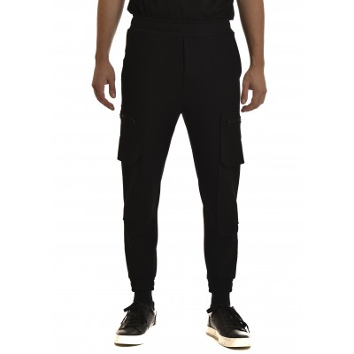 Twin Black Sweatpants Jogger-Black