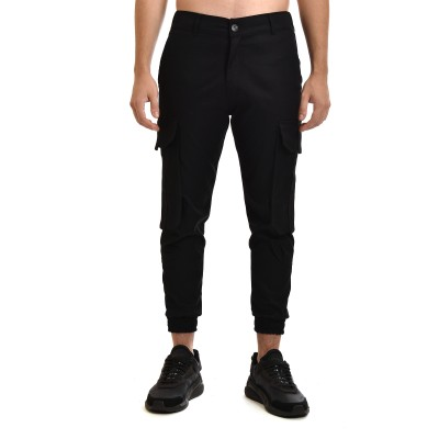 Twin Black Pants Cargo-Black