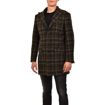 Twin Black Coat Checked-Anthracite/Chaki/Ecru