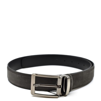 William G. Belt Suede Leather-Grey