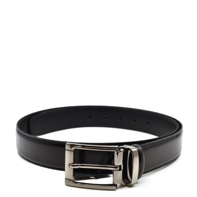 William G. Belt Siera Leather-Black