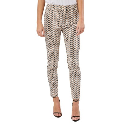 Forel Trousers Patterned-Ecru/Black/Beige