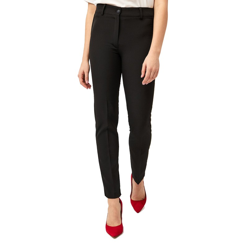 Forel Trousers Straight Fit-Black