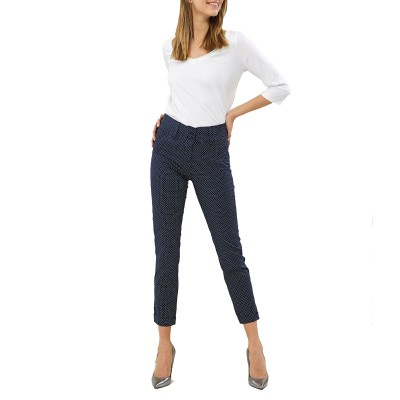 Forel Trousers With Dots-Blue