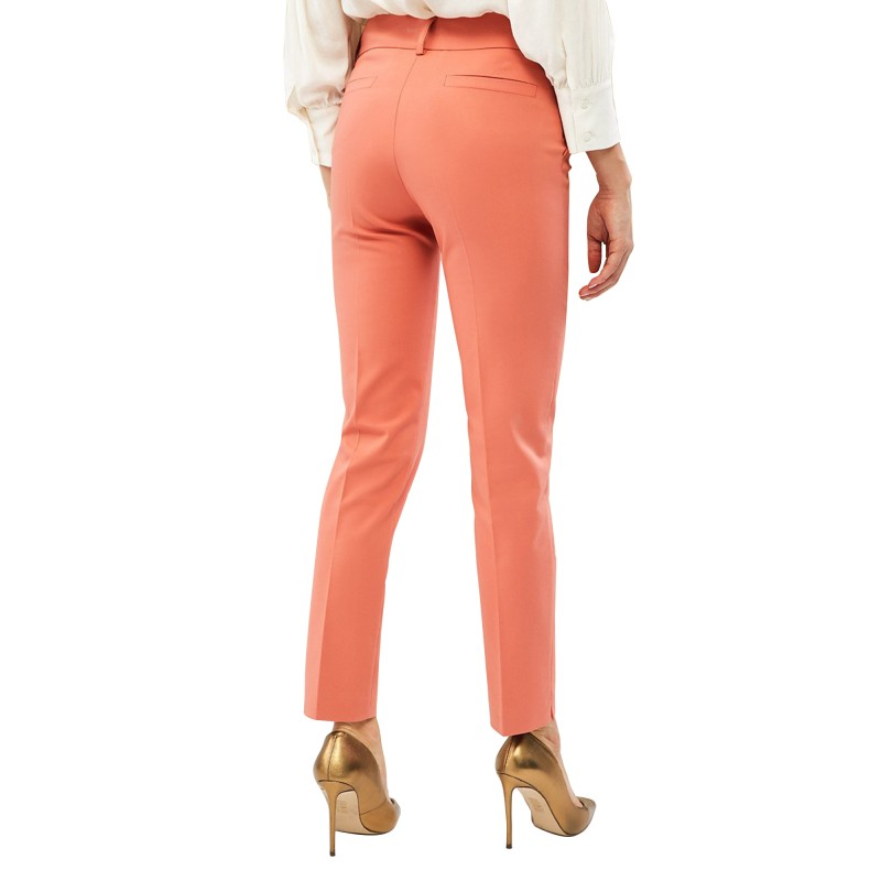 Forel Trousers Slim With Side Slant Pockets-Coral