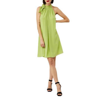 Forel Dress Abir With Necktie-Light Green