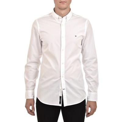 Tommy Hilfiger Shirt Core Stretch Slim Poplin-Bright White