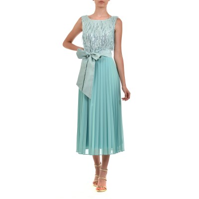 Vener Dress Pleated/Sequins-Mint
