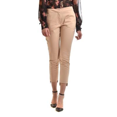 Milla Trousers Asymmetric Hem-Camel