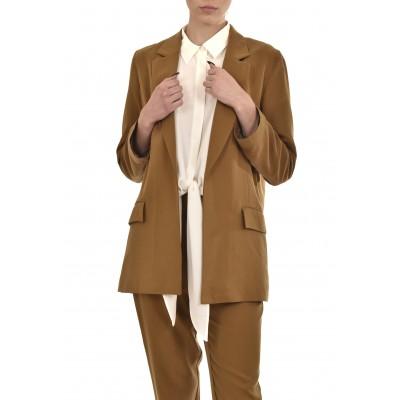 Milla Blazer Oversized No Buttons-Camel
