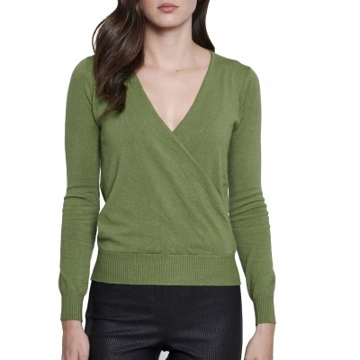 Bill Cost Knitted Blouse Wrap-Green