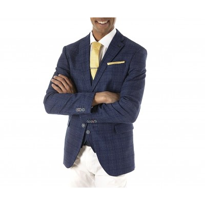 Sogo Blazer Checked-Blue