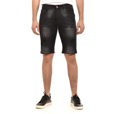 Brokers Short Jeans-Black