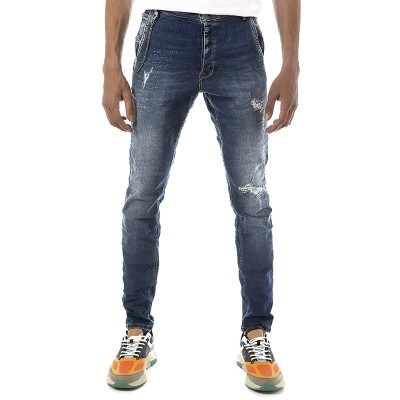 Brokers Jeans Removable Chain-Blue