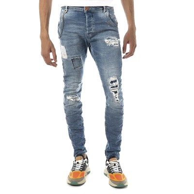Brokers Jeans Removable Chain-Medium Blue