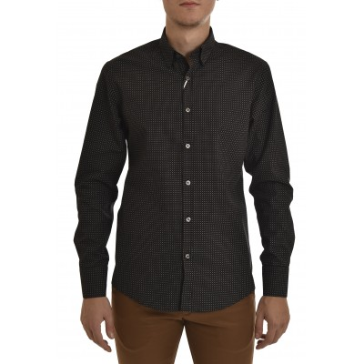 Vittorio Shirt Big Dots-Black