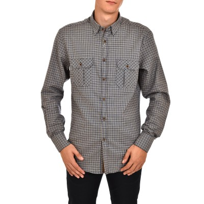 Vittorio Shirt Checked-Blue/Ecru