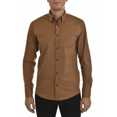 Vittorio Shirt Printed-Brown
