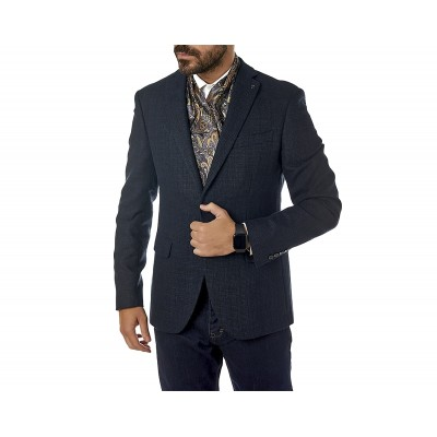 Sogo Blazer Checked Regular-Blue