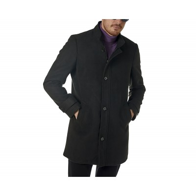 Sogo Coat With Stand Collar-Black