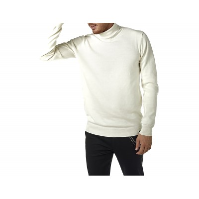 Brokers Knitted Blouse Turtleneck-Ecru