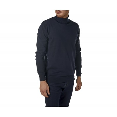 Brokers Knitted Blouse Turtleneck-Dark Blue