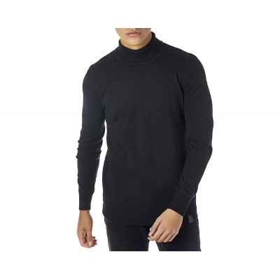 Brokers Knitted Blouse Turtleneck-Black
