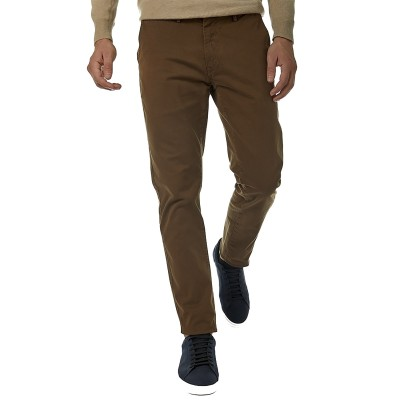 Brokers Trousers Chino In Cotton-Camel