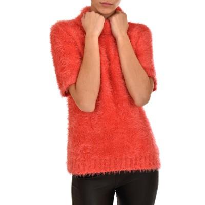 Twenty-29 Sweater T-shirt Fluffy Turtleneck-Orange