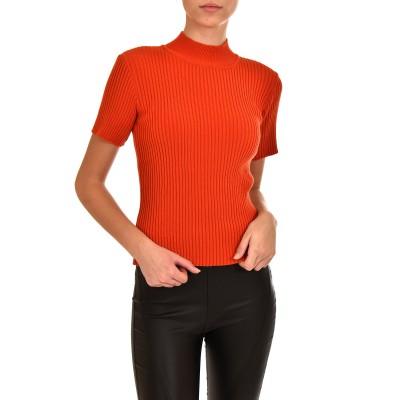 Twenty-29 Knitted Blouse Rib Lupetto-Orange
