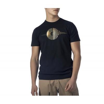 Brokers T-Shirt With Vinyl Print-Black