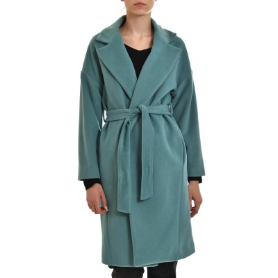 Twenty-29 Coat With Lapel & Belt-Veraman