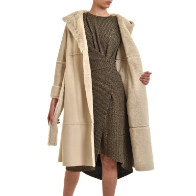 Motel Coat Mouton Long-Ecru/Latte