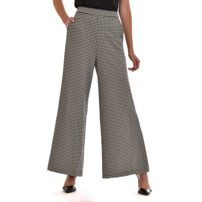 Motel Trousers Wide Leg PDP-Black/White