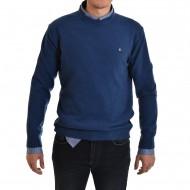 Navy & Green Sweater-Blue