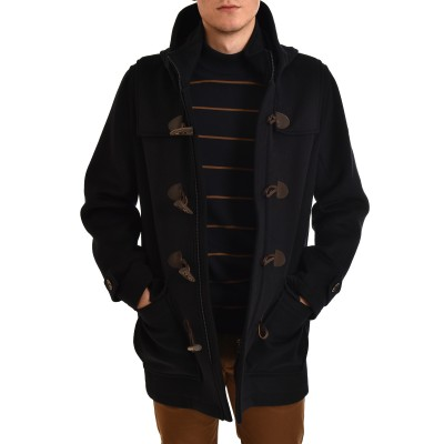 Navy & Green Coat Montgomery-Dark Blue