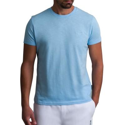 Navy & Green T-Shirt-Baby Blue