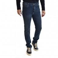 Navy & Green Jeans Regular Waist-Blue